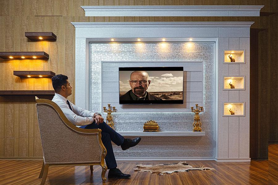 نمونه کارهای TV Room طرح 1